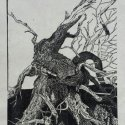 1 Gene Shaw Uprooted #1, GCI woodcut 31 x 21.75 inches