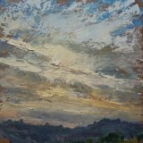 """SOLD Wissler """"Gathering Color"""" oil on panel 12 x 12 inches"""
