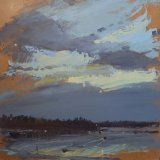 Where We Stood  oil on panel 12 x 12 inches