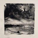 John David Wissler Moon Rock monotype 4 x 4 inches