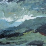 """Wissler """"Air and Storm"""" oil on canvas 22 x 28 inches"""