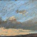 John David Wissler As I Wonder oil on panel 8.75 x 25.50 inches