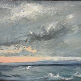 John David Wissler Back Shore Storm oil on panel 14 x 24 inches
