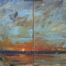John David Wissler Constant Change oil on canvas diptych 30x48 inches_