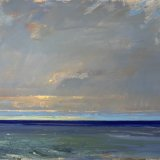 John David Wissler Distance Breaking oil on canvas 36 x 60 inches