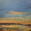 John David Wissler Last Rise oil on panel 12 x 12 inches