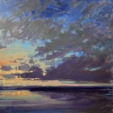 John David Wissler Lifting Dusk oil on canvas 36 x 36 inches