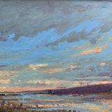 John David Wissler Listening oil on panel 18 x 24 inches