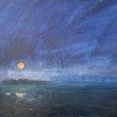John David Wissler Orange Moon oil on canvas 16 x 20 inches