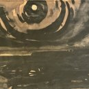 John David Wissler The Full Moon ink on paper 5 x 7.50 inches