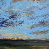 John David Wissler Wind oil on panel 18 x 25 inches