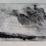 "SOLD Wissler ""Edges Vanishing"" monotype 5.75 x 7.75 inches"