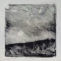 "Wissler ""Moon Rise"" monotype 4.5 x 4.5 inches"