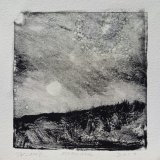 """Wissler """"Moon Rise"""" monotype 4.5 x 4.5 inches"""