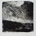 "Wissler ""Stars, Shade Gap"" monotype 4.5 x 4.5 inches"