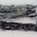 "Wissler ""Stars and Cloud"" monotype 5.75 x 7.75 inches"