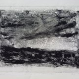 """Wissler """"Stars and Cloud"""" monotype 5.75 x 7.75 inches"""