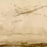 Risen (Dawn over Baker Island) (ink on paper)
