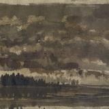 Pendergast in the Sky (ink on paper)