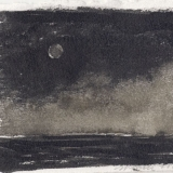 Moon and Fog (ink on paper)