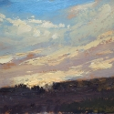 """Wissler """"Beyond"""" oil on paper 7.25 x 9.75 inches"""