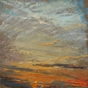 """Wissler """"We Dream"""" oil on panel 12 x 12 inches"""