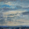 """Wissler """"Coleman's View"""" oil on panel 10.375 x 12.375 inches"""