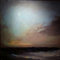 "Wissler ""December Dusk"" oil on linen 36 x 36 inches"