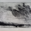 "SOLD Wissler ""Edges Vanishing"" monotype 5.75 x 7.75 inches"