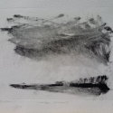 """SOLD Wissler """"Jake's Woods"""" monotype 5.75 x 7.75 inches"""