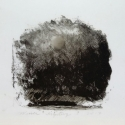 """Wissler """"Mystery"""" monotype on mylar 4.5 x 4.5 inches"""