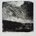 "Wissler ""Stars, Shade Gap"" monotype 4.5 x 4.5 inches"