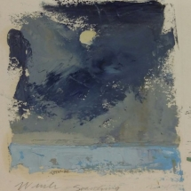 Searching  oil on paper 4.75 x 4.625 inches