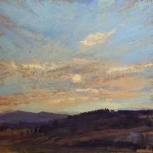 SOLD - Above the Back Field  oil on panel 11 x 12 inches (2)