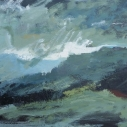 "Wissler ""Air and Storm"" oil on canvas 22 x 28 inches"