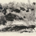 Monotype II ink on rice paper 5.75 x 7.25 inches