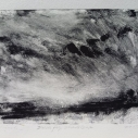 "Wissler ""Dusk Fog , Shade Gap"" monotype 5.75 x 7.75 inches"