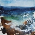 Aegean Studies III watercolor 13.875 x 9.750 inches