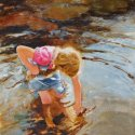 Finding Treasure watercolor 19.5 x 13.750 inches