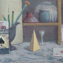 ALEX COHEN Still Life of Suits oil on board 9 x 13 inches $1100