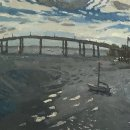 BRIAN REGO Boat on Ashley River oil on board 13 x 19.5 inches $1600