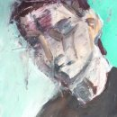 CHARLES SWISHER Head M acrylic 7.5 x 4.75 inches $375