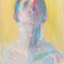 CHARLES SWISHER Head Yellow Light gouache acrylic 7.75 x 5.5 inches $375
