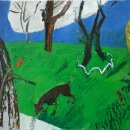 DEE JENKINS The Ants and the Woodpecker oil and wax on panel 12 x 13 inches $1600