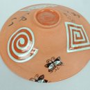 MARIKO SWISHER Let_s Play from underneath terra cotta bowl asobou 1.5 inches deep x 7 inch diameter $650