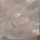 Michael Allen, Approach2, 2020, oil over charcoal on paper, 22.25 x 21 inches, $2,800