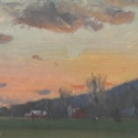 Michael Allen_Millbach Sunrise April 25 2013 (detail), oil on paper, 7.125 x 13.5