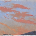 Michael Allen_Millbach Sunrise August 5 2013, oil on paper, 6 x 7
