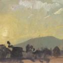 Michael Allen_Millbach Sunrise June 11 2013, oil on paper, 6 x 12
