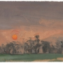 Michael Allen_Millbach Sunrise May 21 2013, oil on paper, 5.75 x 6.875